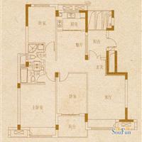3室2厅2卫  127平米