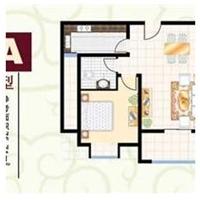 2室1厅1卫  75.71平米