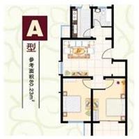 2室1厅1卫  80.23平米