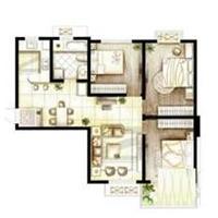 2室2厅2卫  108平米